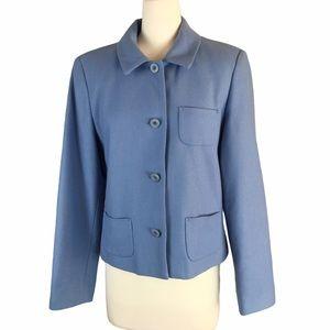 Harve Bernard vintage deep powder blue blazer 10